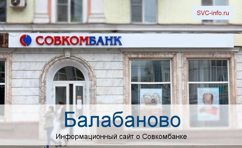 Банкоматы и отделения в городе Балабаново