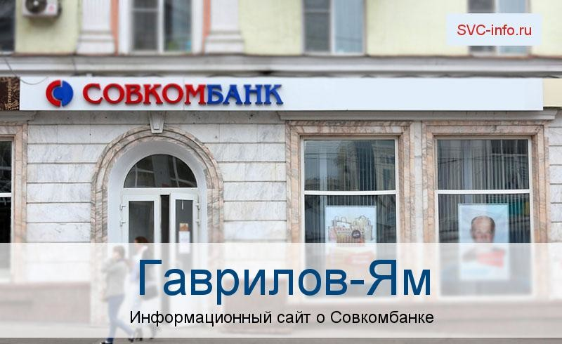 Банкоматы и отделения в городе Гаврилов-Ям