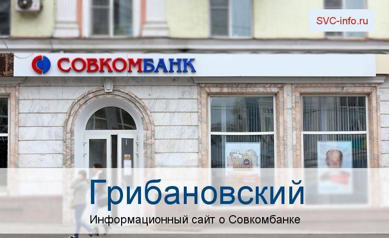 Банкоматы и отделения в городе Грибановский