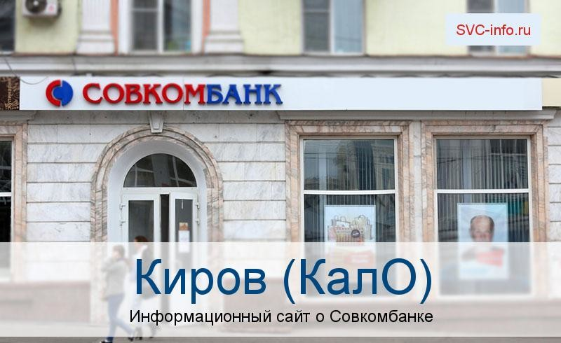 Банкоматы и отделения в городе Киров (КАЛО)