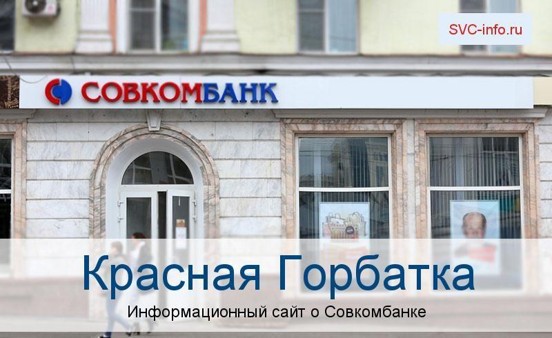 Банкоматы и отделения в городе Красная Горбатка
