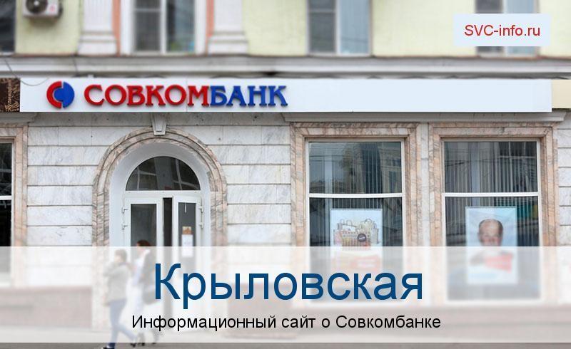 Банкоматы и отделения в городе Крыловская