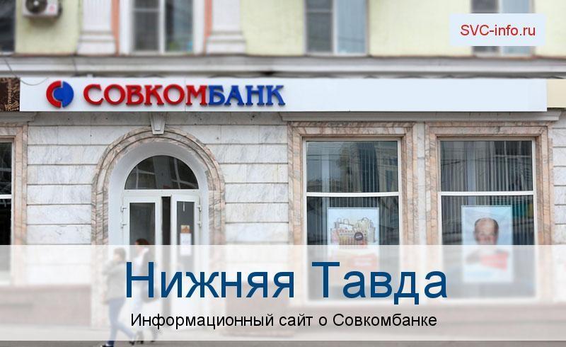 Банкоматы и отделения в городе Нижняя Тавда