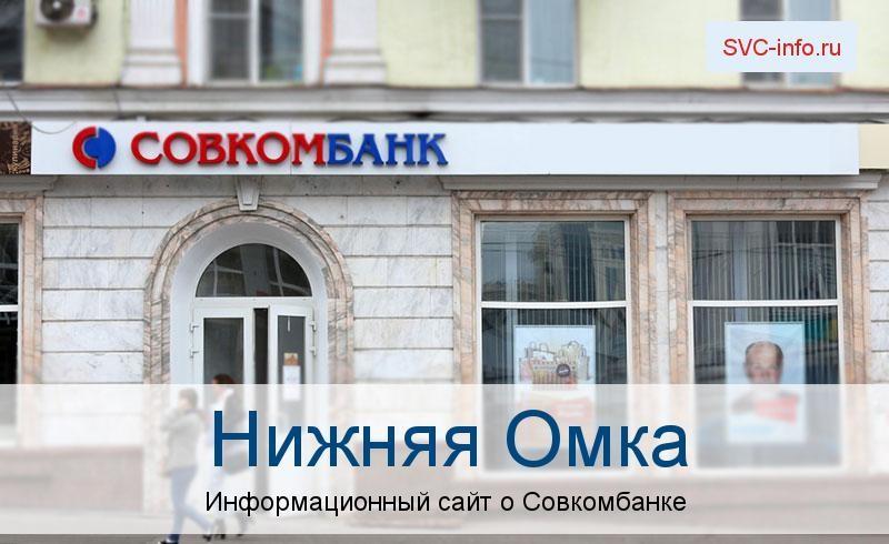 Банкоматы и отделения в городе Нижняя Омка
