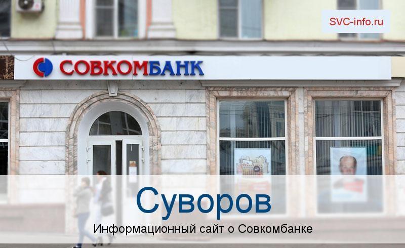 Банкоматы и отделения в городе Суворов
