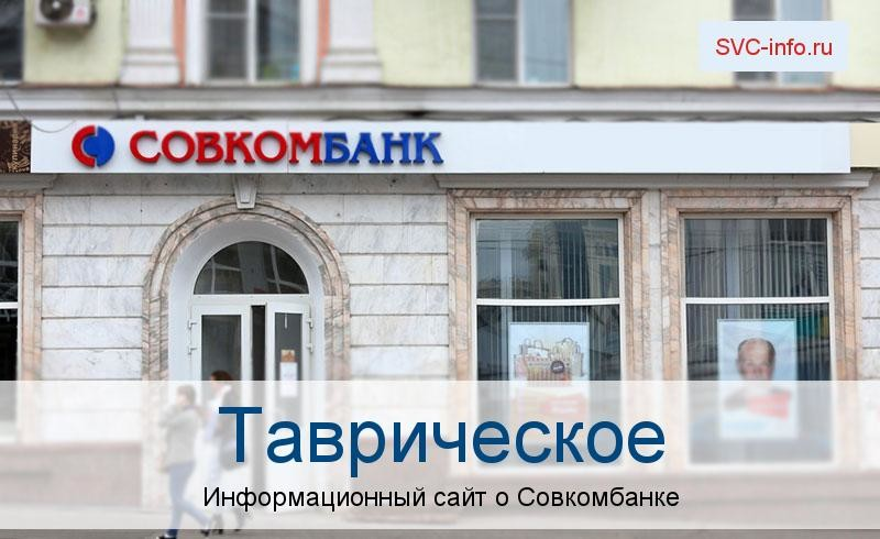 Банкоматы и отделения в городе Таврическое
