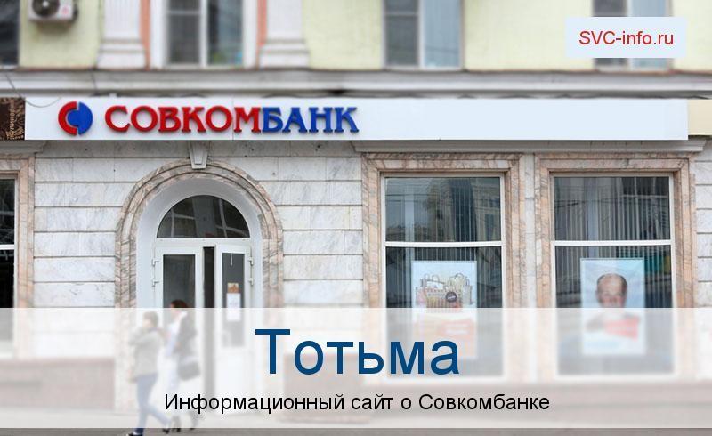 Банкоматы и отделения в городе Тотьма