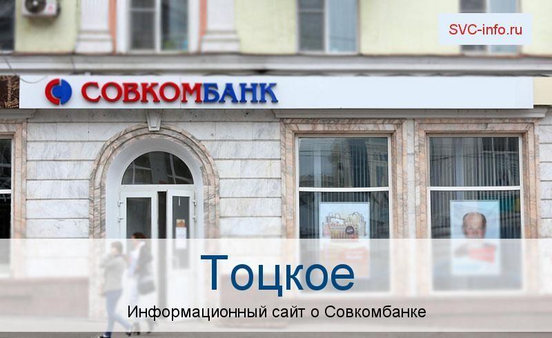 Банкоматы и отделения в городе Тоцкое